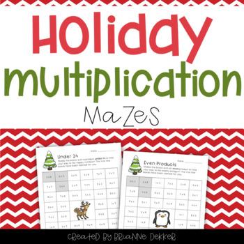 Holiday Multiplication Worksheets