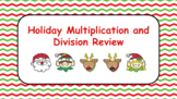 Holiday Multiplication and Division Review Digital Google Classroom