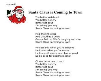 Holiday Music Bingo