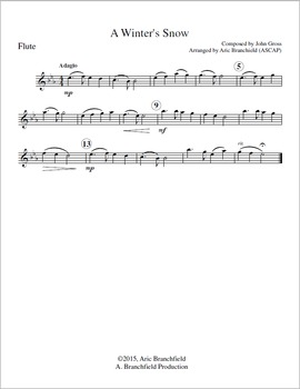 Holiday Music for Concert Band - A Winter's Snow by John Gross