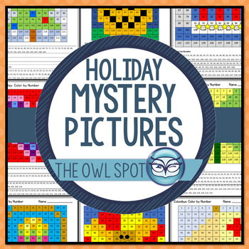 Holiday Mystery Pictures - Color By Number