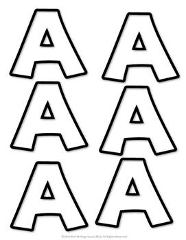 Holiday Name Glyph Craftivity