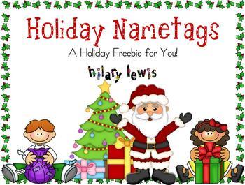 Holiday Nametags FREEBIE
