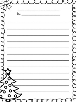Holiday Narrative Writing Pack
