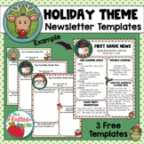 Holiday Newsletter Templates {FREEBIE}