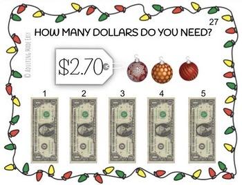 Holiday Next Dollar Up - How Many Dollars Do I Need? Task Cards