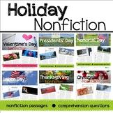 Holiday Nonfiction Reading Passages Bundle