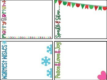 Holiday Note Cards #ClassroomChristmasKindness