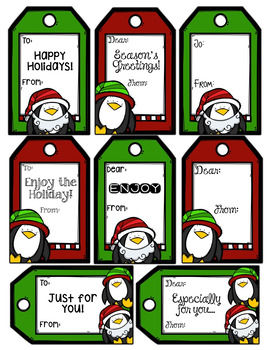 Holiday Note Cards, Thank You Cards, and Gift Tags - Editable