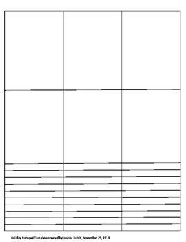 Holiday Notepad Template