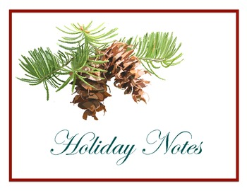 Holiday Notes