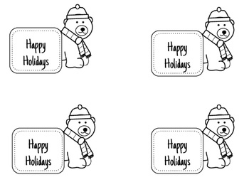 Holiday Notes- Quick Printable FREEBIE!