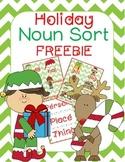 Holiday Noun Sort FREEBIE