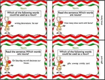 Christmas Holiday Noun Task Cards