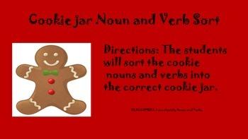 Holiday Noun and Verb Sort