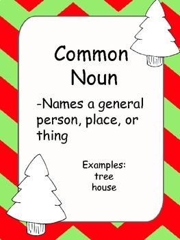 Common Nouns and Proper Nouns Activity (Holiday Nouns)