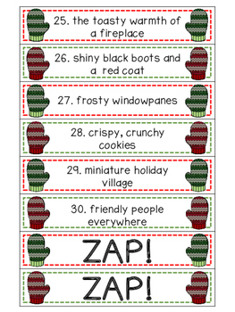 Holiday Nouns and Adjectives ZAP!