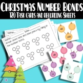 Christmas Number Bonds:  Decomposing Tens and Ones - Making 10 - Making 100