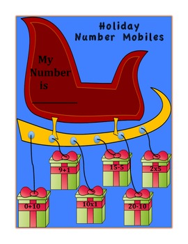 Holiday Number Mobiles