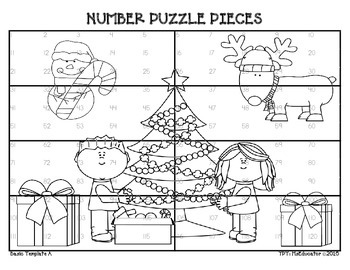 Holiday Number Puzzles - BUNDLED