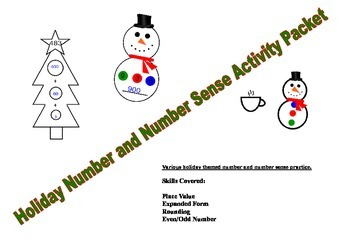 Holiday Number and Number Sense Activity Packet