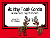 Holiday Numerical Expressions Task Cards (5.OA.2)