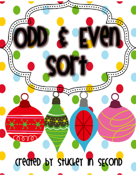 Holiday Odd & Even Sort FREEBIE