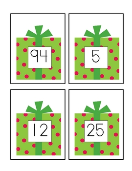 Holiday One More/ One Less (Numbers to 100) Math Center