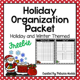 Holiday Organization Packet Freebie