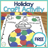 Holiday Ornament Craftivity FREEBIE
