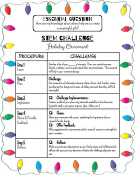 Holiday Ornament STEM Activity