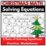 Christmas Math: Solving Ornament Multi-Step Equations