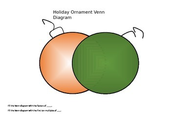 Holiday Ornament Venn Diagram