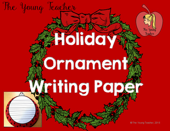 Holiday Ornament Writing Paper