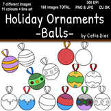 Holiday Ornaments - Balls Clip Art