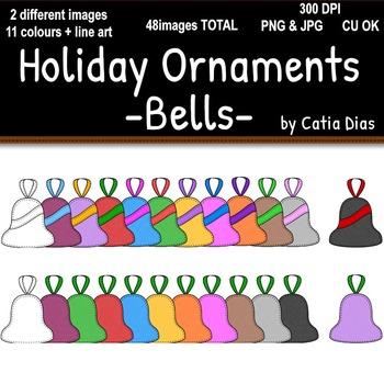 Holiday Ornaments - Bells Clip Art
