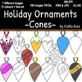 Holiday Ornaments - Cones Clip Art