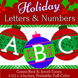 Holiday Ornaments: Full-Color, Printable Letters & Numbers