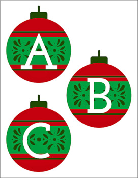 picture relating to Printable Ornaments named Holiday vacation Ornaments: Complete-Colour, Printable Letters Quantities
