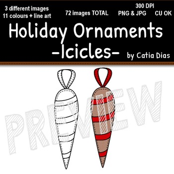 Holiday Ornaments - Icicles Clip Art