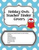 Holiday Owls Teacher Binder