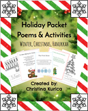 Holiday Packet: Poems and Activities (Winter, Christmas, Hanukkah)