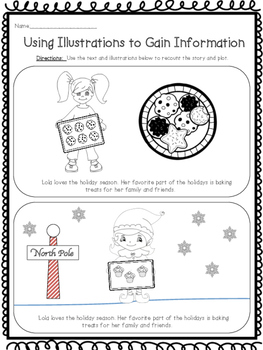 Holiday Packet - Reading, Writing & Cookie Activity RL 2.2   RL 2.3   RI 2.3