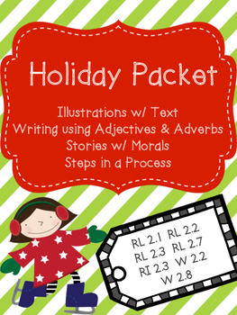 Holiday Packet - Reading, Writing & Cookie Activity RL 2.2