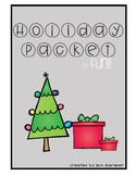 Holiday Packet - Word Skills, Word Searches and Poetry - New Fonts!