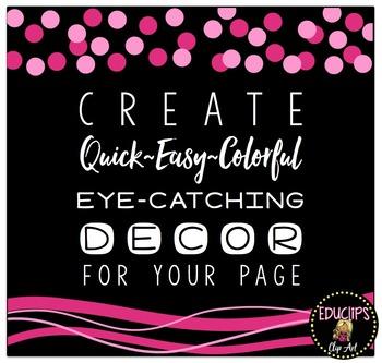 Holiday Page Decor Clip Art Bundle {Educlips Clipart}