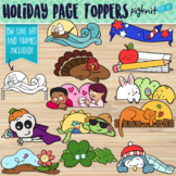 Holiday Page Topper Clipart for Seasons and Back 2 School