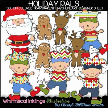 Holiday Pals Clipart Collection