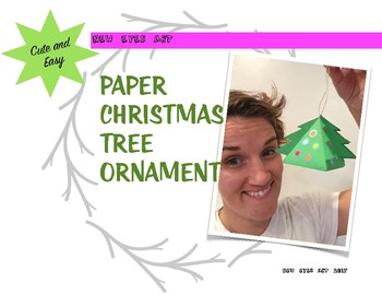 Holiday Paper Tree Ornament Box! Template and Instructions. Perfect Decoration!