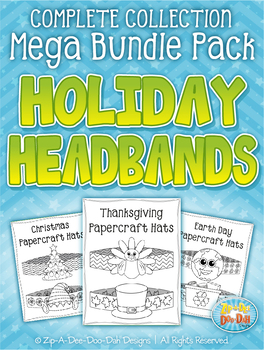 Holiday Papercraft Headbands / Hats Mega Bundle Collection — Over 20 Crafts!